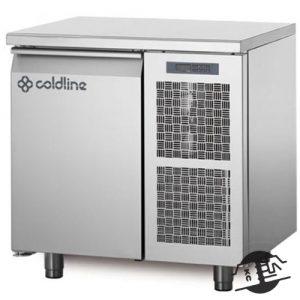 Coldline TP09/1B Vrieswerkbank 1-deurs, met bovenblad