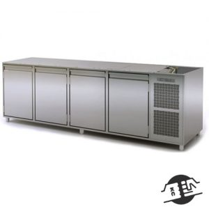 Coldline HS21/1M340 Koelwerkbank 4-deurs, zonder bovenblad (AT)